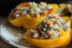 Quinoa stuffed bell peppers