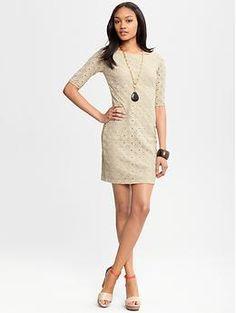 Circle lace dress -- Banana Republic