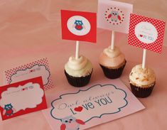 """""""Owl Always Love You"""" free Valentine's Day party printables! See more party ideas at CatchMyParty.com. #freeprintables #valentinesday"""