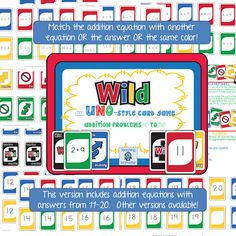 Wild!  A uno-like card game for addition sums 11-20, $