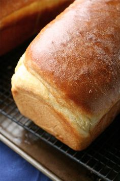 another pinner said:  This is the only sandwich bread we eat in our house now- easy recipe, great texture- we make it with half white flour, half whole wheat.