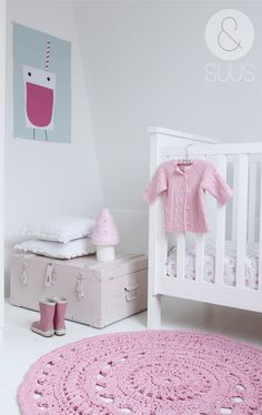 White and pink girl's nursery