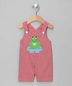 monday child, red frog, infant, toddler cloth, frog shortal