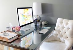 """""""Whether you're a working gal or a full-time mom, it's important to create a beautiful, inspiring, and organized workspace."""" - by our blogger Kyle"""