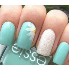 Tiffany Blue nails