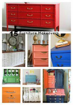 A great round up of 15 inspiring furniture transformations! www.bddesignblog.com #paintedfurniture