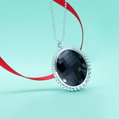 Ziegfeld Collection pendant in sterling silver with black onyx. #TiffanyPinterest