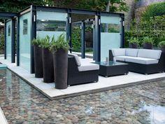 Urban Outdoor Room in Using Large Garden Containers from HGTV Garden Container, Outdoor Patios, Outdoor Room, Planter, Backyard, Larg Garden