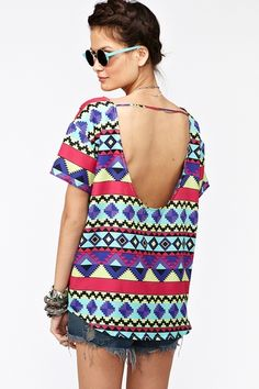 Aztec Tee #kelly751 #2dayslook #susan257892  #AztecTee www.2dayslook.com