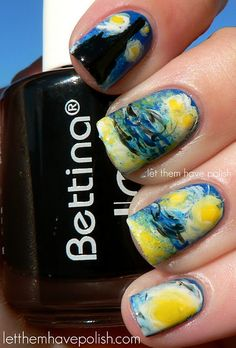 And I saved the best from the 31 Day Challenge for last...Starry Night Nails!  These are soooo awesome!