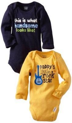 Gerber Baby-Boys Newborn 2 Pack Bodysuits, Blue/Yellow, « Clothing Impulse