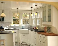 Great look for colonial kitchen
