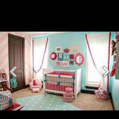 Pink and teal room