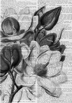 art on newspaper
