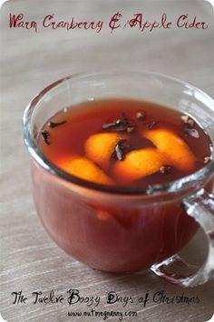 food, appl cider, drink, warm cranberri, apple cider, apples, beverag, christma, cranberries