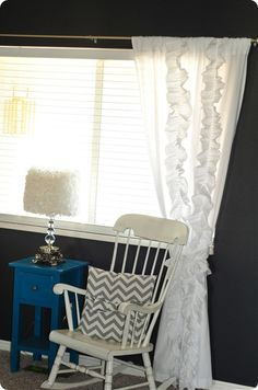 anthro inspired pleated curtain...made out of sheets! love it!
