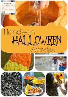 Mamas Like Me: Hands-on #Halloween - Messy Halloween Fun for Kids!