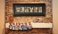 frame, custom letter, letter art