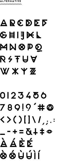 Roccia Typeface by Marco Oggian, via Behance