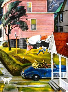I love this cover by John Falter, 1952, 'Spring Storm Moving In'