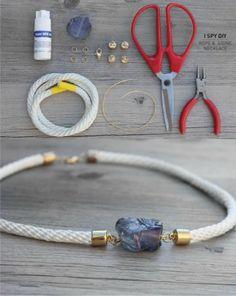 pulsera piedra cuerda DIY muy ingenioso 1