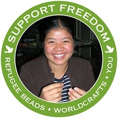 @WorldCrafts Support Freedom Stories {Refugee Beads ~ USA} Fleeing persecution in their native countries, such as Sudan, Bhutan, Burma, and Egypt, refugees often encounter new and threatening challenges upon arrival in the US. Refugee Beads provides a way for the women to provide a sustainable income for their families. #supportfreedom #fairtrade
