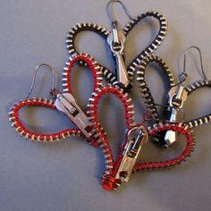 Heart Zipper earrings