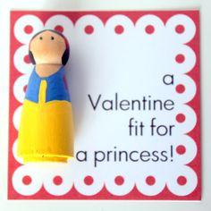 Peg Doll Valentines (Peg Dolls Cost Less than 10 cents each!) #valentine