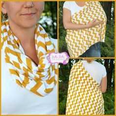 Hold Me Close Nursing Scarf Fall Mustard Yellow, Nursing Cover, Infinity Scarf, via Etsy. Great Idea, you wear it as a scarf then open it up to breast feed your baby. A modern style dupatta!?