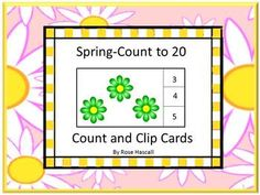 Free-Count and Clip Cards. Students can practice their counting skills with this Spring count and clip math center activity. Students will count the spring item and clip a clothes pin on the correct number. This set makes 20 Count and Print Cards. Print out the pages, laminate, and cut out the count and clip cards. You will need 20 clothespins for this activity. Or, if you prefer, students can use dry erase markers to circle the correct number. .