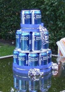 Beer Cake! Very cool for a birthday present :)