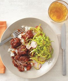 Short ribs become fall-apart delicious when simmered with onion, garlic, tomato paste, chipotles, and cumin. Get the recipe for Slow-Cooker Chipotle Short Ribs With Tangy Cabbage Slaw.