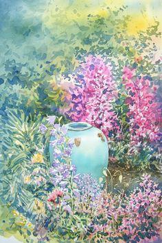 vase in garden