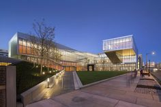 Krishna P. Singh Center for Nanotechnology designed by Weiss/Manfredi at the eastern edge of the University of Pennsylvania's campus, is the first major academic building that announces the presence of the campus within West Philadelphia.