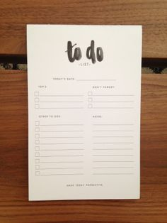 ToDo List Notepad by Studio9Co on Etsy, $12.99