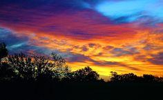 Sunrise on the KS NE border by markmhood, via Flickr