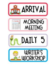 Daily Schedule Card Printables (free!) image 2