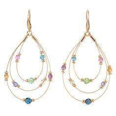 earring light, light amethyst, aquamarin, light rose, crystal hoop, earrings