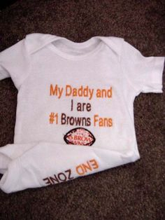 Cleveland Browns Football Onesie.  Cohen needs this.