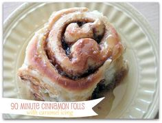90 Minute Cinnamon Rolls with Caramel Icing. The best homemade cinnamon rolls and 90 minutes start to finish!