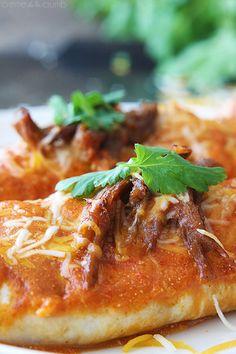 Sweet Pork Enchiladas - Creme De La Crumb