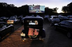 """Ever been to a drive-in movie? Visit the Southington Drive-In on Open House Day (June 14, 2014) and enjoy special entry price - $10 per car. Gate opens at 6 p.m., show begins at sunset and the feature film is """"Ice Age.""""  [Photo credit: Stephen Dunn]"""