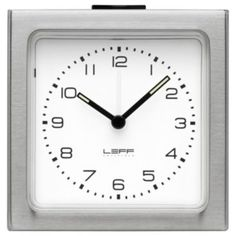Block Alarm Clock Arabic Dial by LEFF Amsterdam. Classic.