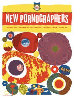 poster art, music poster, gig poster, poster envi, pornograph, design