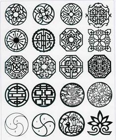 traditional korean geometrical patterns pattern