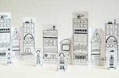 di carta, idea, stuff, toy, paper citi, papers, paper crafts, printabl, kid