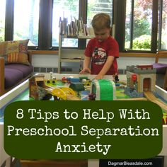 Tips for preschool separation anxiety that can be given to parents.