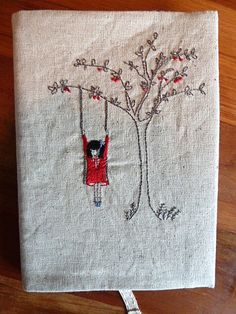 stitched journal cover