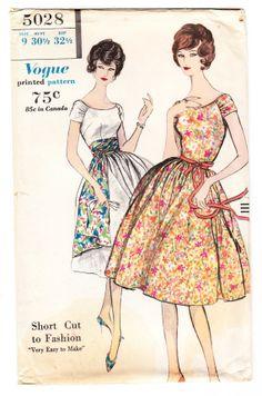 Vogue 5028, ca 1960; Sz 12/Bust 32