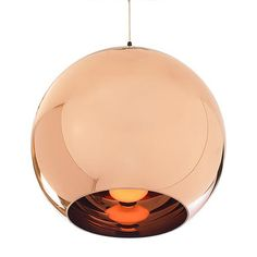 Copper pendant lamp. Might be cool to echo the copper countertop?